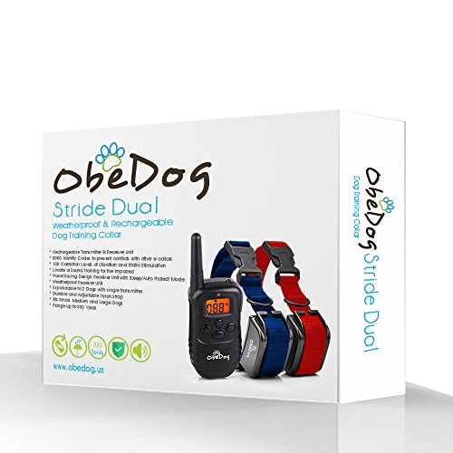 ObeDog 330 Yards Stride Dual Rechargeable & Weatherproof Dog Training Collar with Amber LCD Remote Review